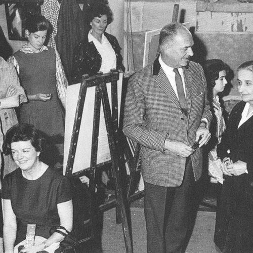 scenes in Studio Simi in the 1950's