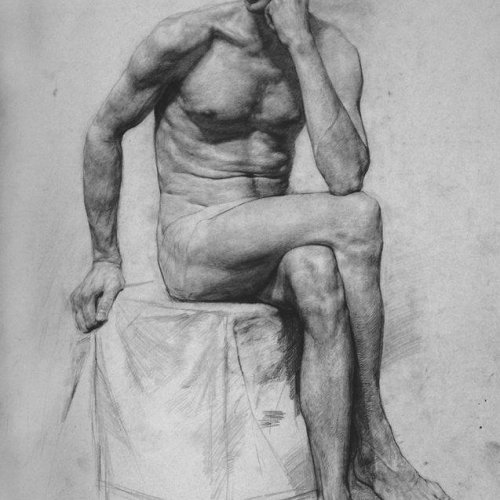 19th century academic study - Ilya Repin